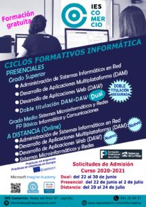 Cartel admisión FP informática